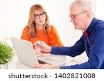 shot of business meeting in the ... | Shutterstock . vector #1402821008