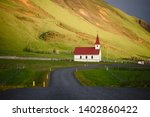 road leading to church.... | Shutterstock . vector #1402860422