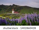 vik village church  iceland.... | Shutterstock . vector #1402860428