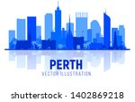 perth australia silhouette... | Shutterstock .eps vector #1402869218