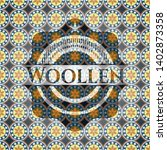 woollen arabic badge background.... | Shutterstock .eps vector #1402873358