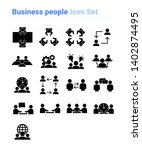 business people icon set of... | Shutterstock .eps vector #1402874495