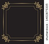 thin gold decorative frame. an... | Shutterstock .eps vector #1402875335