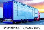 a trailer animal transport .... | Shutterstock . vector #1402891598