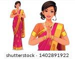 illustration of indian women... | Shutterstock .eps vector #1402891922