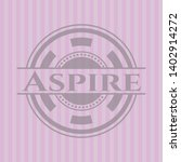 aspire retro style pink emblem. ... | Shutterstock .eps vector #1402914272