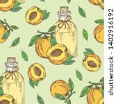 seamless pattern with apricot... | Shutterstock .eps vector #1402916192