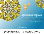 ramadhan background design... | Shutterstock .eps vector #1402922942