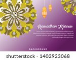 ramadhan background design... | Shutterstock .eps vector #1402923068