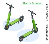isometric electric scooter on... | Shutterstock .eps vector #1402924415