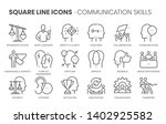 communication skills related ... | Shutterstock .eps vector #1402925582