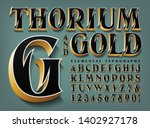 thorium and gold is an ornate... | Shutterstock .eps vector #1402927178