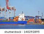 container stack and ship under... | Shutterstock . vector #140292895
