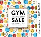 gym membership sale template... | Shutterstock .eps vector #1402946738
