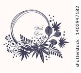 wreath. vector floral... | Shutterstock .eps vector #1402947182