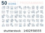 set of vector line icons of... | Shutterstock .eps vector #1402958555