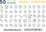 set of vector line icons of... | Shutterstock .eps vector #1402958582