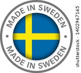 made in sweden flag icon | Shutterstock .eps vector #1402967165