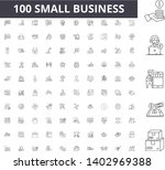 small business line icons ... | Shutterstock .eps vector #1402969388