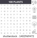 plants line icons  signs ... | Shutterstock .eps vector #1402969472