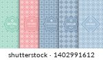 set of seamless line patterns ... | Shutterstock .eps vector #1402991612