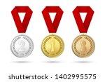 vector 3d realistic gold ... | Shutterstock .eps vector #1402995575