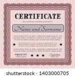red certificate diploma or... | Shutterstock .eps vector #1403000705
