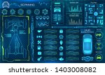 set hud elements car service ... | Shutterstock . vector #1403008082