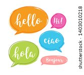 hello bubble in different... | Shutterstock .eps vector #1403010218