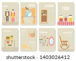 set of things and food... | Shutterstock .eps vector #1403026412