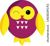 purple owl cartoon character.... | Shutterstock .eps vector #1403039192