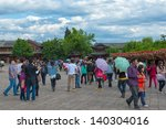 lijiang   oct 3  crowd of... | Shutterstock . vector #140304016