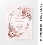 rose gold marble invitation... | Shutterstock .eps vector #1403043782
