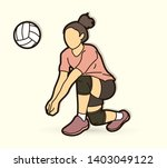 woman volleyball player action... | Shutterstock .eps vector #1403049122