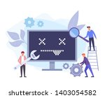 Stock vector computer repair service web banner concept vector flat graphic design isolated illustration 1403054582