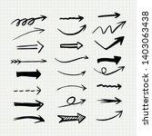 doodle arrow set   vector... | Shutterstock .eps vector #1403063438