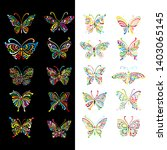 ornate butterfly collection for ... | Shutterstock .eps vector #1403065145