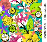 seamless juicy summer pattern...   Shutterstock .eps vector #1403068238