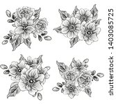 flowers set. collection of... | Shutterstock . vector #1403085725