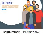 illustration of many people... | Shutterstock .eps vector #1403095562