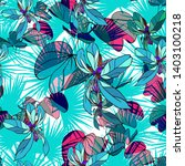vector tropical leaves floral... | Shutterstock .eps vector #1403100218