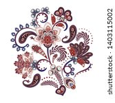 embroidery. bouquet with... | Shutterstock .eps vector #1403115002