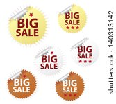 big sale tags   stickers for... | Shutterstock .eps vector #140313142