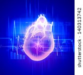 virtual image of human heart... | Shutterstock . vector #140313742