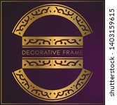 luxury golden frame design with ... | Shutterstock .eps vector #1403159615