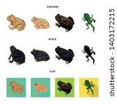 vector design of wildlife and... | Shutterstock .eps vector #1403172215