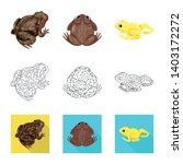 vector illustration of wildlife ... | Shutterstock .eps vector #1403172272
