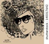 art monochrome black sketching... | Shutterstock .eps vector #140317642