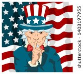 angry uncle sam keeps his... | Shutterstock .eps vector #1403197955