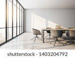 concrete meeting room interior... | Shutterstock . vector #1403204792